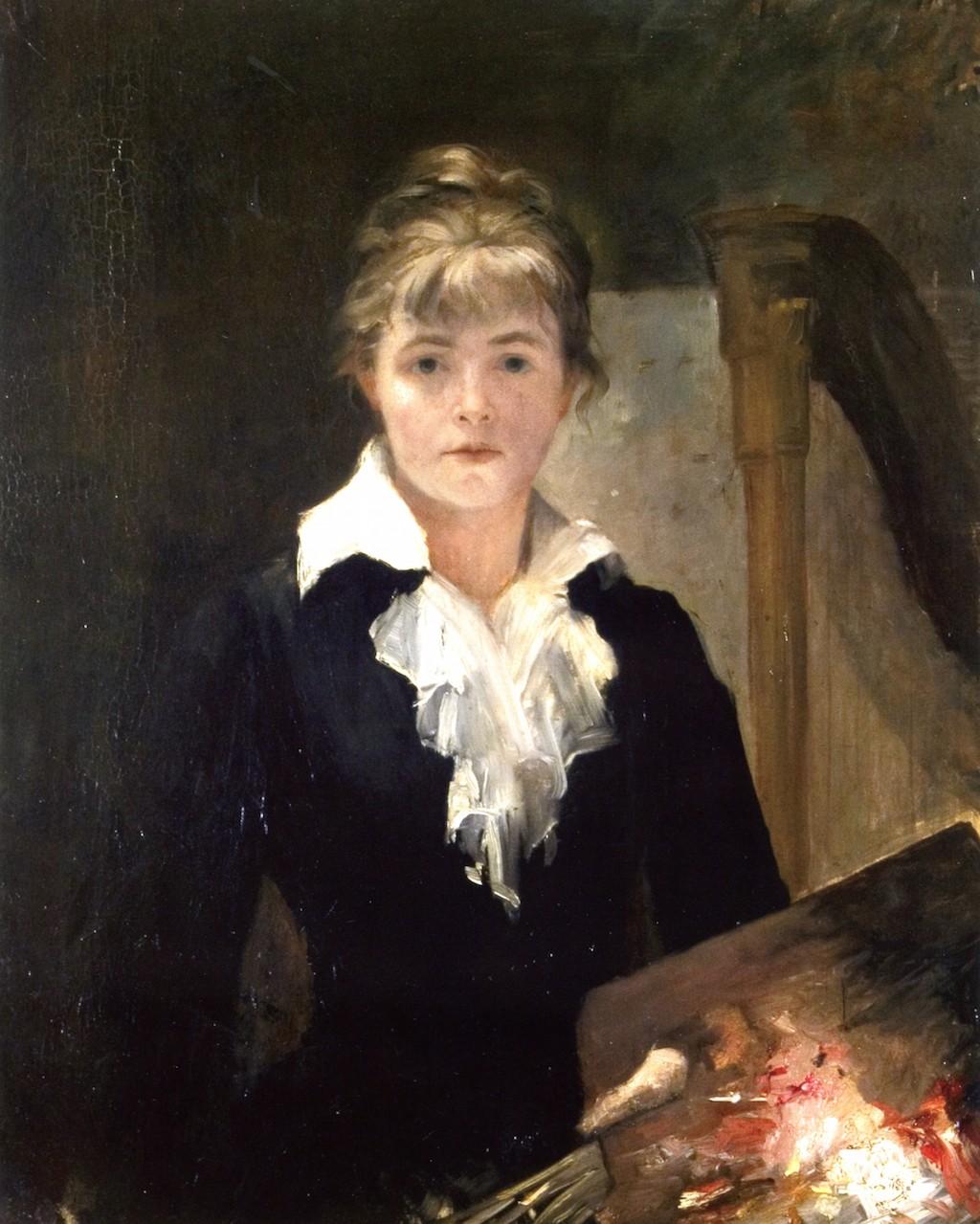 Self Portrait with a palette, Marie Bashkirtseff
